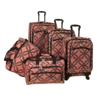 American Flyer Clover 5-Piece Spinner Luggage Set