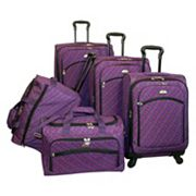 American Flyer Luggage, Plaid 5-pc. Spinner Luggage Set