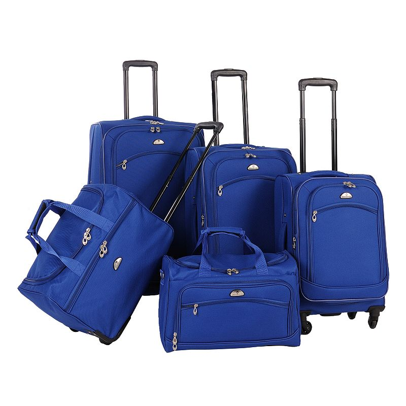 American Flyer Luggage, South West 5-pc. Spinner Luggage Set, Blue
