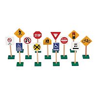 Guidecraft Block Play Traffic Signs