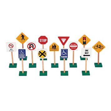 Guidecraft Block Play Traffic Signs