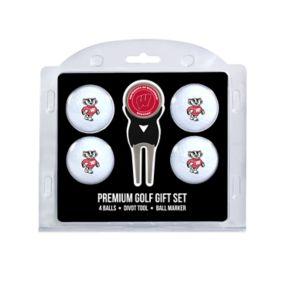 Wisconsin Badgers 6-Piece Golf Gift Set