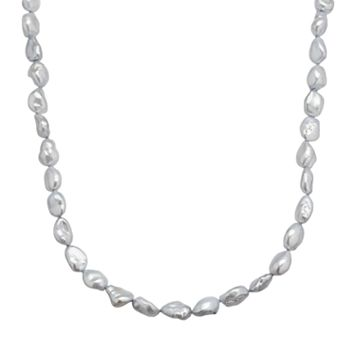 Freshwater by HONORA Sterling Silver Dyed Freshwater Cultured Pearl Necklace