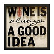 Wine is Always a Good Idea Wall Art