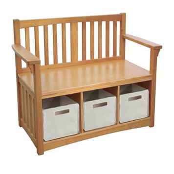 Guidecraft New Mission Storage Bench & Bins