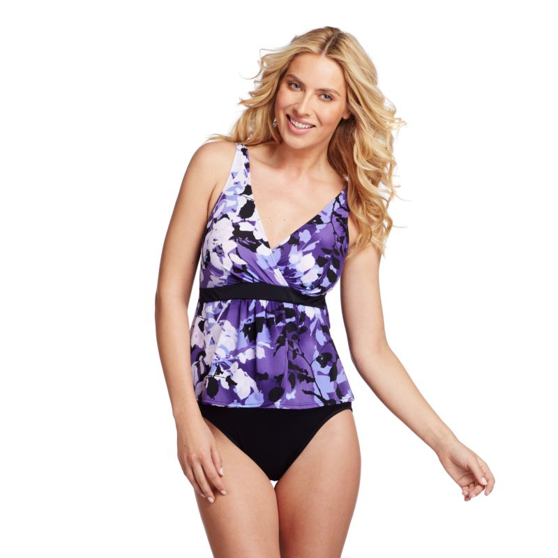 Croft & Barrow Fit For You Body Sculptor One-Piece Swimsuit - Women's