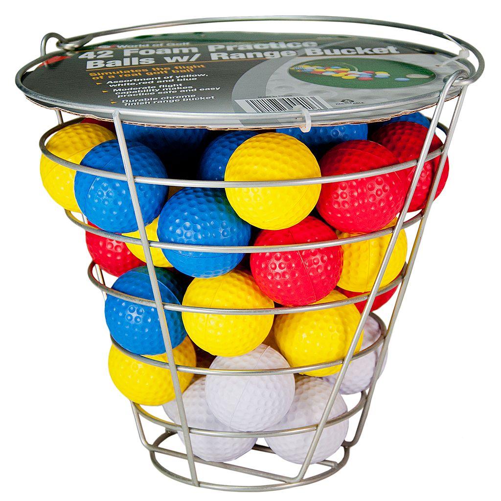 Club Champ Range Bucket & Foam Golf Ball Set