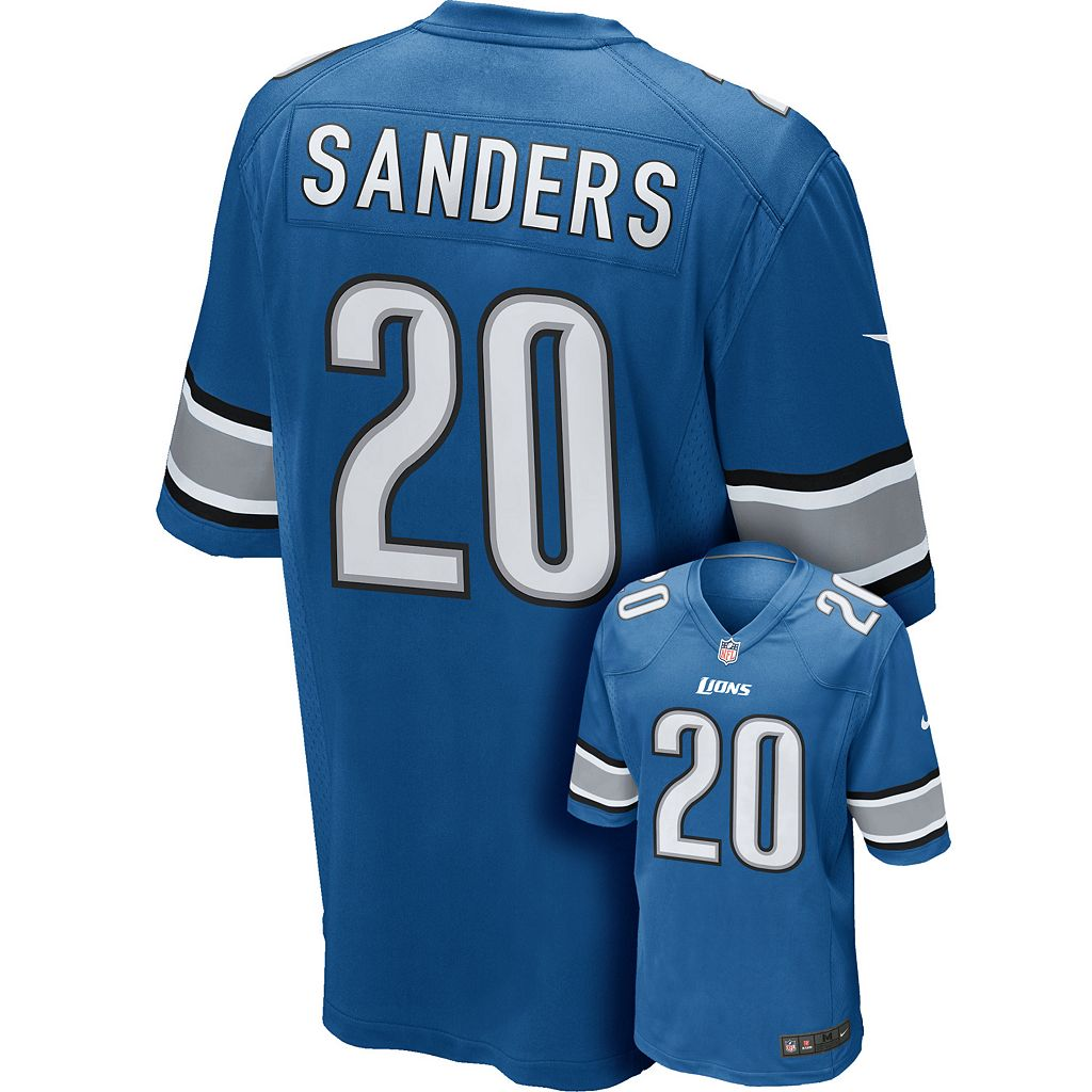 Men's Nike Detroit Lions Barry Sanders Game NFL Replica Jersey