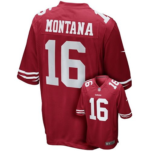 factory price a9b10 ee3b1 Men's Nike San Francisco 49ers Joe Montana Game NFL ...