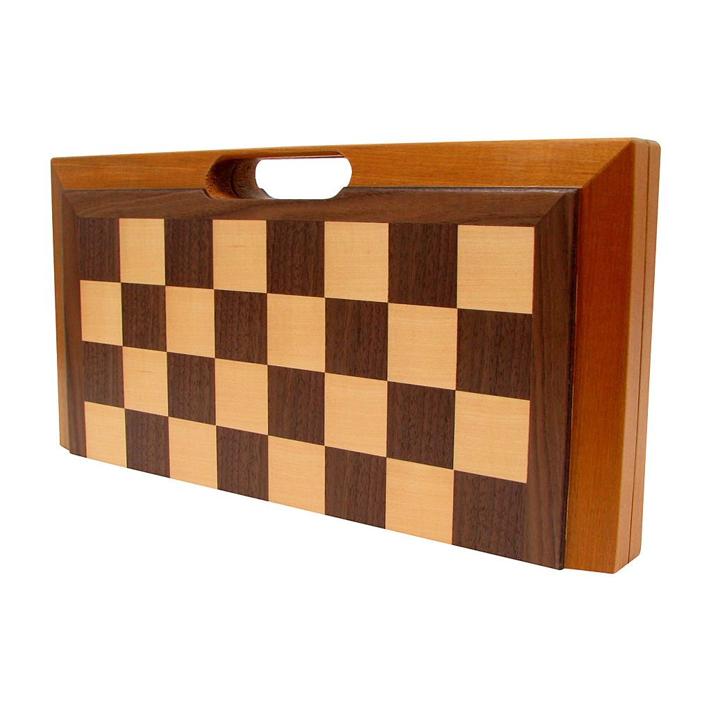 Deluxe Wooden 3-in-1 Chess, Backgammon and Checker Set