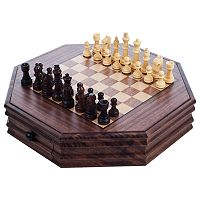 Octagonal Chess & Checkers Set