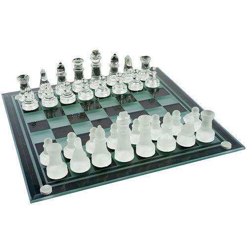 Glass Chess & Checkers Set