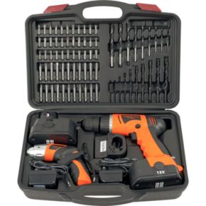 74-pc. Cordless Drill and Screwdriver Set