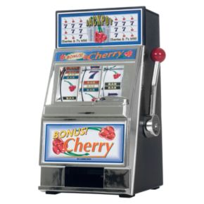 Cherry Bonus Mini Slot Machine and Bank