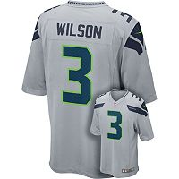 Men's Nike Seattle Seahawks Russell Wilson Game NFL Replica Jersey
