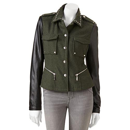 6a60e3a2d J2 by Jou Jou Studded Faux-Leather Jacket - Juniors