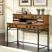 Modern Craftsman 2 pc Executive Desk & Hutch Set