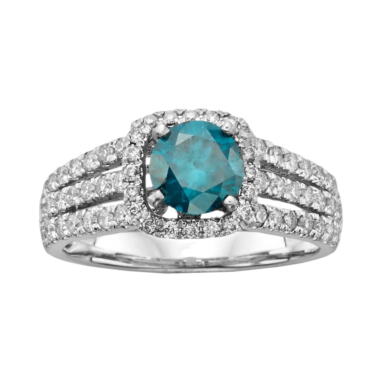 Diamond And Turquoise Wedding Rings 14 Fresh Round Cut IGL Certified