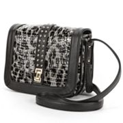 B-Collective by Buxton Elizabeth Snakeskin Studded Crossbody Bag
