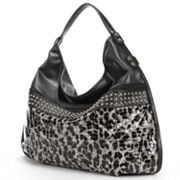 B-Collective by Buxton Elizabeth Snakeskin Studded Oversized Hobo