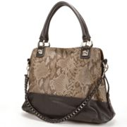 B-Collective by Buxton Brooke Snakeskin Convertible Satchel