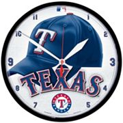 Texas Rangers Round Wall Clock