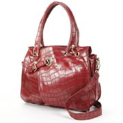 B-Collective by Buxton Shannon Crocodile Convertible Shoulder Bag