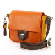 B-Collective by Buxton Hailey Leather Colorblock Crossbody Bag