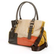 B-Collective by Buxton Victoria Leather Patchwork Satchel
