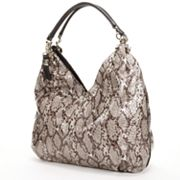 B-Collective by Buxton Margaret Leather Snakeskin Hobo