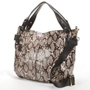 B-Collective by Buxton Margaret Leather Snakeskin Convertible Satchel
