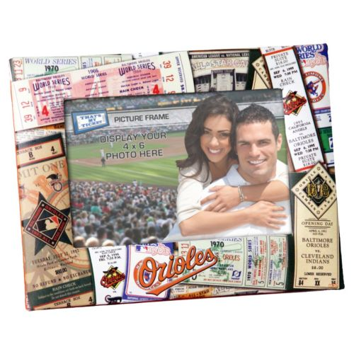 Baltimore Orioles 4 x 6 Ticket Collage Picture Frame