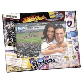 Milwaukee Brewers 4 x 6 Ticket Collage Picture Frame
