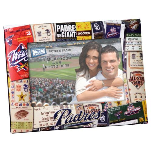 San Diego Padres 4 x 6 Ticket Collage Picture Frame