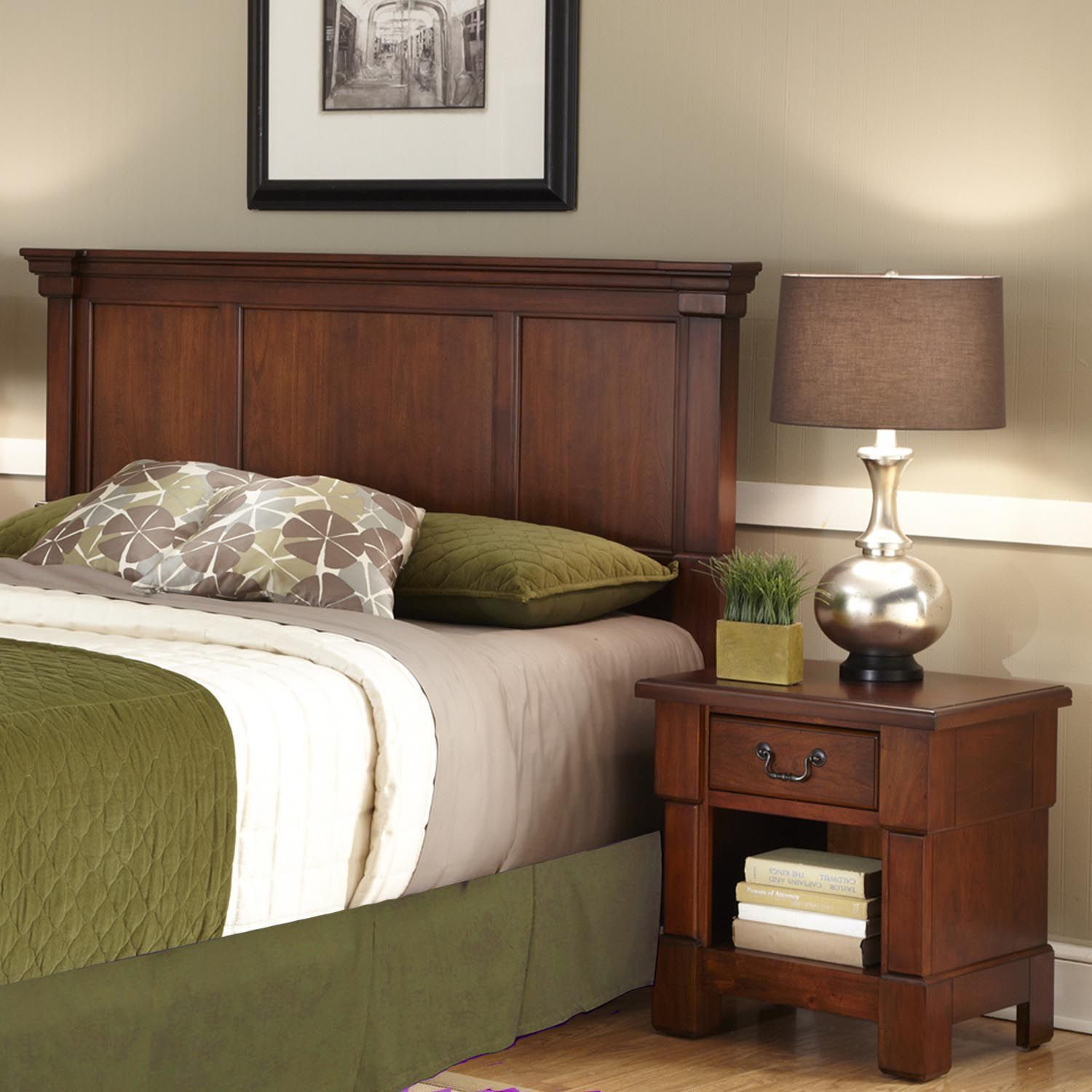 New Queen Full Headboard u Nightstand Set
