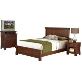 Aspen 3-pc. Queen/Full Headboard, 4-Drawer Media Chest and Nightstand Set