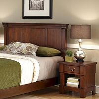 Aspen 2 pc King Rustic Headboard & Nightstand Set