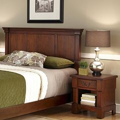 Aspen 2-pc. King Rustic Headboard & Nightstand Set