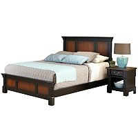 Home Styles Aspen 4-pc. Queen Headboard, Footboard, Frame and Nightstand Set
