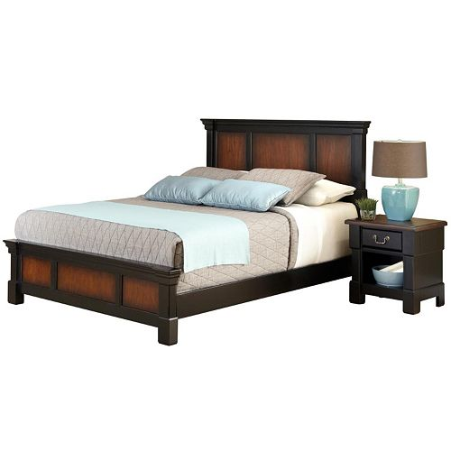 Home Styles Aspen Ombre 4-pc. King Bed & Nightstand Set