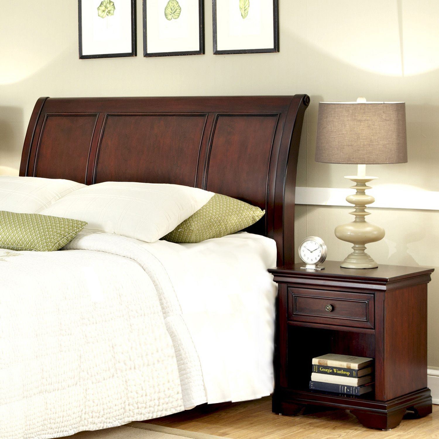 Awesome Lafayette pc Queen Headboard u Nightstand Set