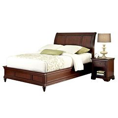 Home Styles Lafayette 4 pc Headboard, Footboard, Frame and Nightstand Set