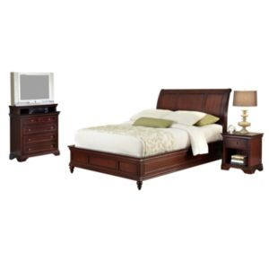Home Styles Lafayette 5-pc. Queen Headboard, Footboard, Frame, 5-Drawer Media Chest and Nightstand Set