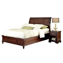 Home Styles Lafayette 4 pc King Headboard, Footboard, Frame and Nightstand Set