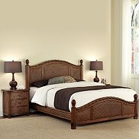 Marco Island 4 pc Queen Headboard, Footboard, Frame & Nightstand Set