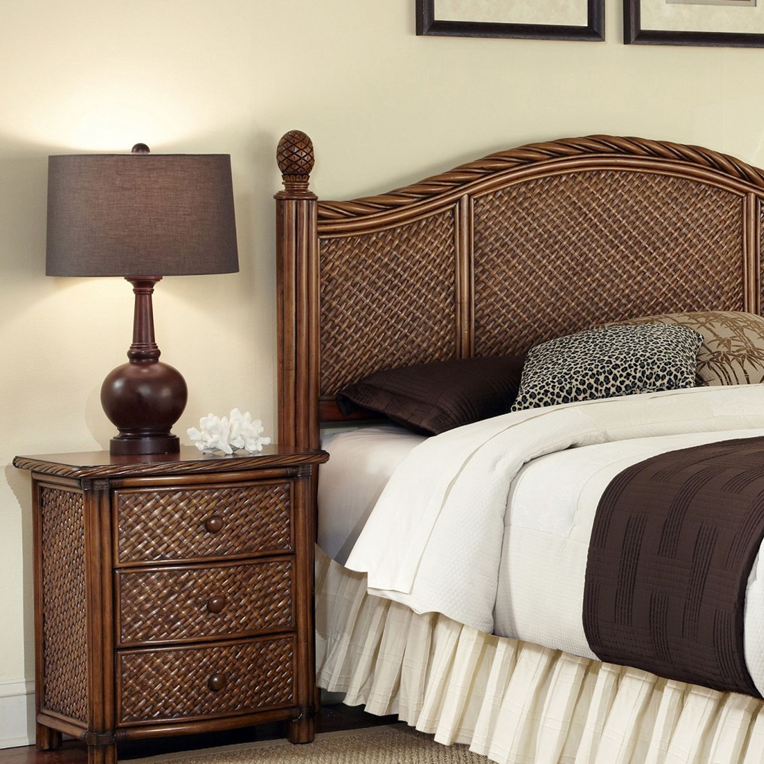 Superb Marco Island pc King Headboard u Nightstand Set
