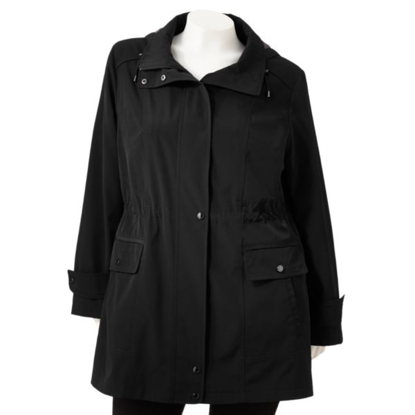 Gallery WaterResistant Anorak Jacket Women,s Plus