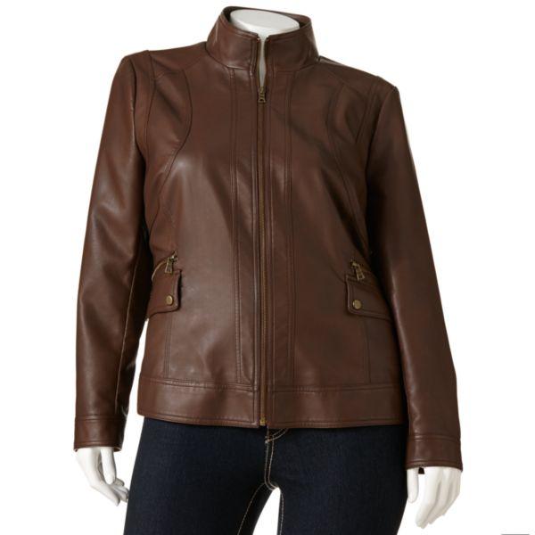 Giacca FauxLeather Scuba Jacket Women,s Plus