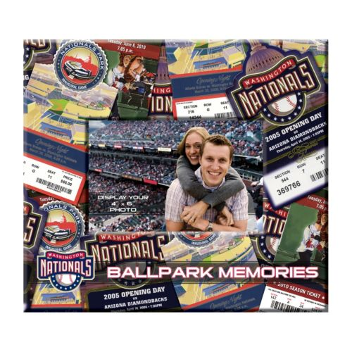 Washington Nationals 8 x 8 Ticket and Photo Album Scrapbook