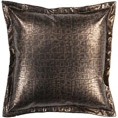 Decor 140 Biasca Leather Decorative Pillow - 22' x 22'